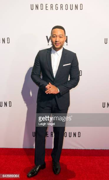 John Legend arrives at WGN America's 'Underground' Season Two Premiere Screening At The Smithsonian National Museum Of African American History And...