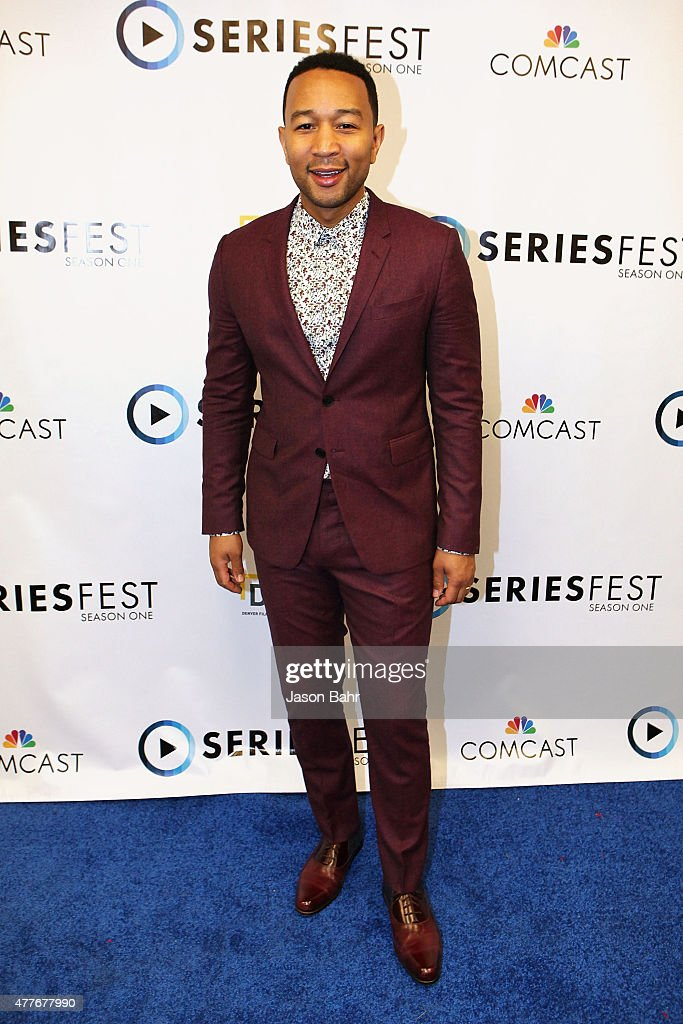 John Legend arrives prior to his performance at the opening night of SeriesFest at Red Rocks Amphitheatre on June 18, 2015 in Morrison, Colorado.