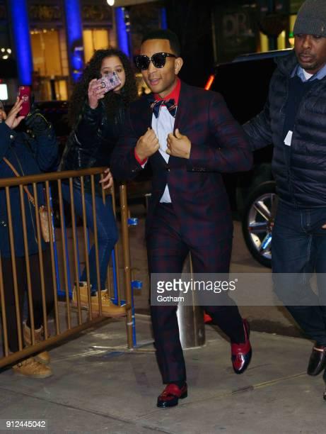 John Legend at Elton John's tribute concert at Madison Square Garden on January 30 2018 in New York City