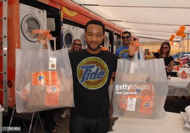 John Legend at Tide CleanStart Mobile Laundramat during John Legend and Tide CleanStart Mobile Laundromat Return to New Orleans to Provide Free...