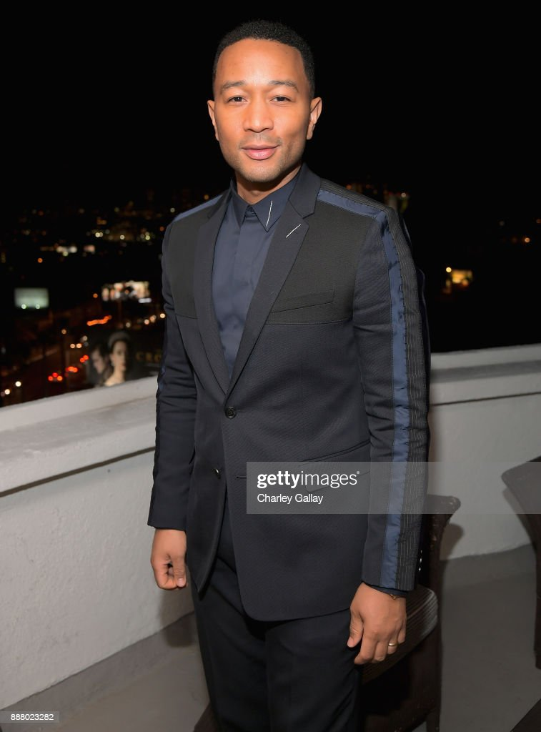 John Legend attend GQ and Dior Homme private dinner in celebration of The 2017 GQ Men Of The Year Party at Chateau Marmont on December 7, 2017 in Los Angeles, California.