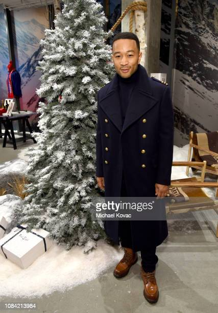 John Legend attends 'A Legendary Shopping Night' hosted by Fred Segal Sunset in the Ralph Lauren popup space at Fred Segal on December 17 2018 in...