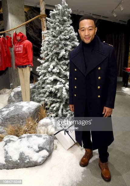 John Legend attends A Legendary Shopping Night hosted by Fred Segal Sunset in the Ralph Lauren popup space at Fred Segal on December 17 2018 in West...