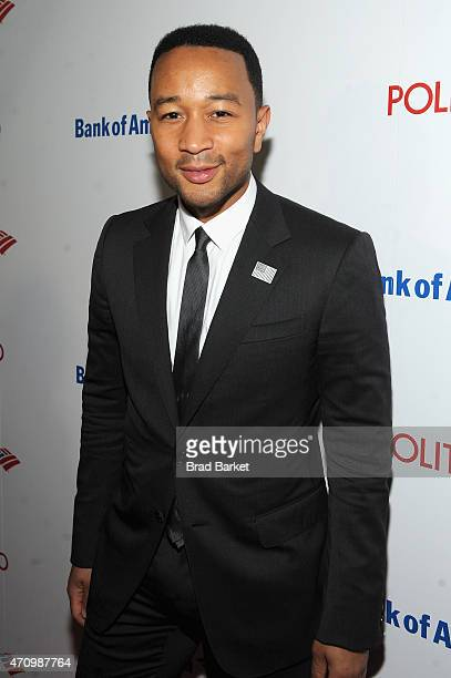 John Legend attends An Evening With John Legend hosted by POLITICO to kickoff White House Correspondents' weekend at Longview Gallery on April 24...