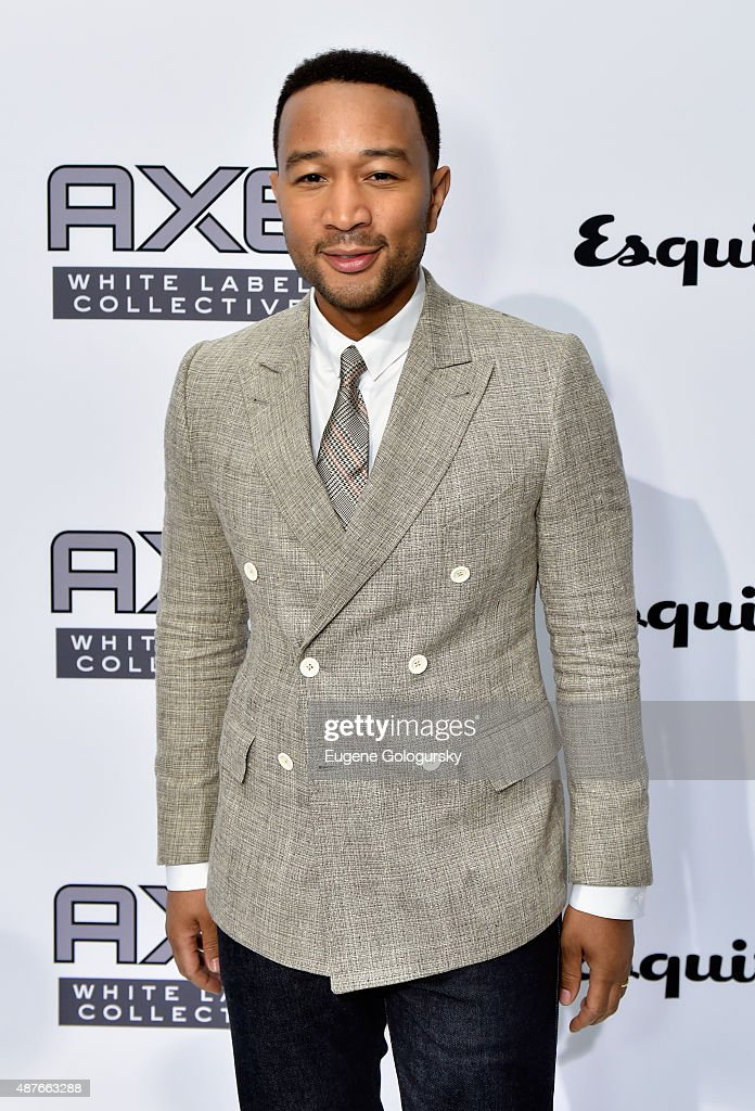 John Legend attends as AXE and Esquire present the AXE White Label Collective during the opening night of New York Fashion Week on September 10, 2015 at Pop14 in New York City.