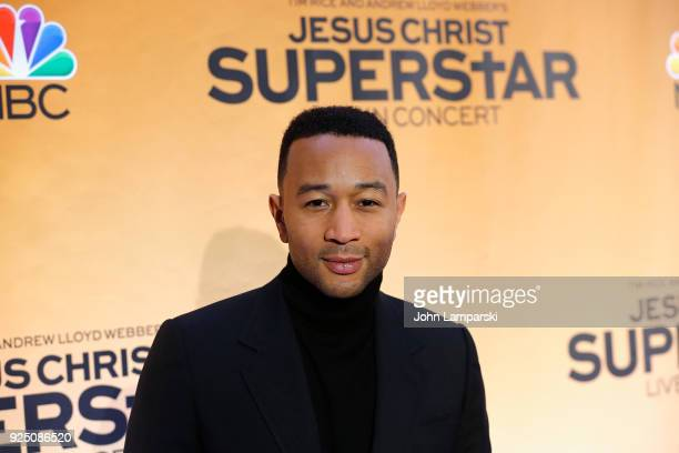 John Legend attends NBC's Jesus Christ Superstar press junket at Church of St Paul the Apostle on February 27 2018 in New York City