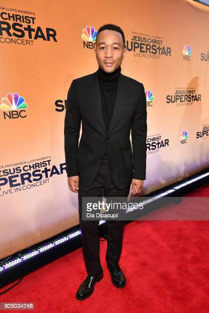 John Legend attends NBC's Jesus Christ Superstar Press Junket at the Church of St Paul the Apostle on February 27 2018 in New York City