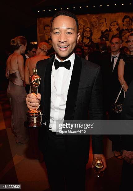 John Legend attends the 2015 Vanity Fair Oscar Party hosted by Graydon Carter at the Wallis Annenberg Center for the Performing Arts on February 22...
