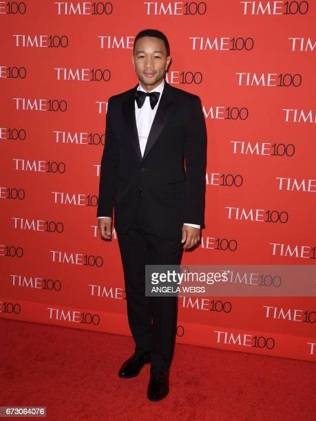 John Legend attends the 2017 Time 100 Gala at Jazz at Lincoln Center on April 25 2017 in New York City / AFP PHOTO / ANGELA WEISS