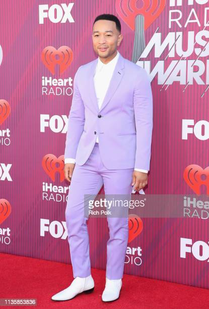 John Legend attends the 2019 iHeartRadio Music Awards which broadcasted live on FOX at Microsoft Theater on March 14 2019 in Los Angeles California
