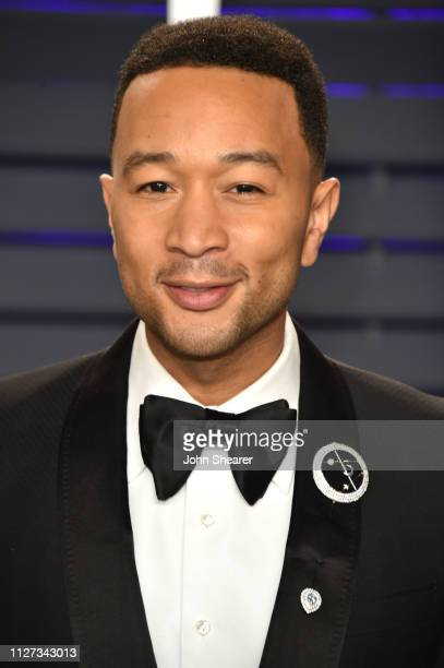 John Legend attends the 2019 Vanity Fair Oscar Party hosted by Radhika Jones at Wallis Annenberg Center for the Performing Arts on February 24 2019...