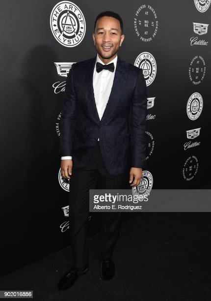 John Legend attends The Art Of Elysium's 11th Annual Celebration on January 6 2018 in Santa Monica California