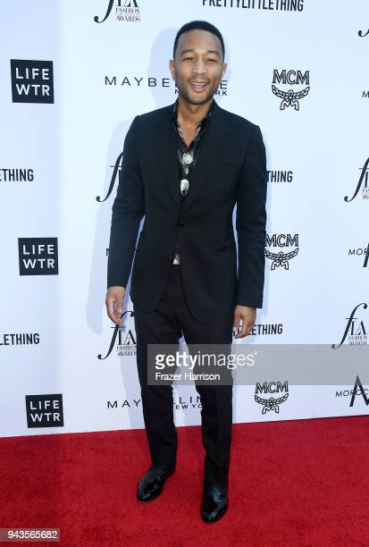 John Legend attends The Daily Front Row's 4th Annual Fashion Los Angeles Awards at Beverly Hills Hotel on April 8 2018 in Beverly Hills California