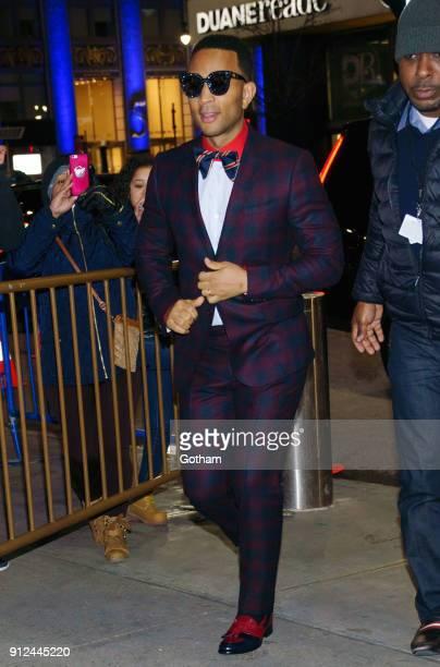 John Legend attends the Elton John tribute concert at Madison Square Garden on January 30 2018 in New York City