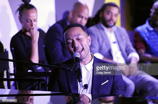 John Legend attends the Fast Company Innovation Festival 2016 John Legend Criminal Justice Reform Panel at Civic Hall on November 3 2016 in New York...