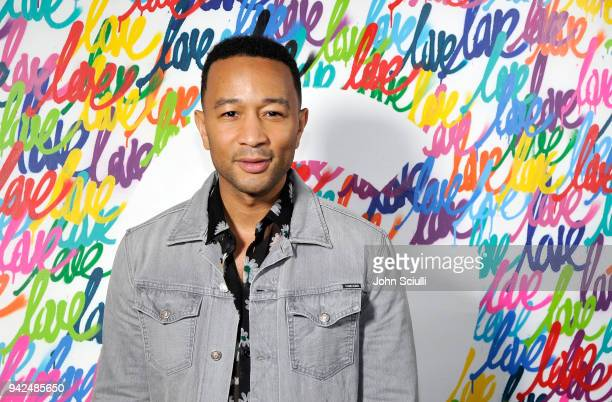 John Legend attends the John Legend and Google premiere of his new music video 'A Good Night' filmed entirely on Google Pixel 2 on April 5 2018 in...