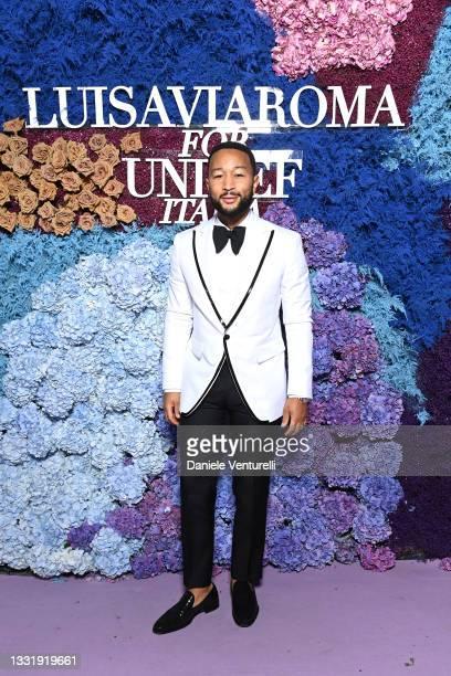 John Legend attends the LuisaViaRoma for Unicef event at La Certosa di San Giacomo on July 31, 2021 in Capri, Italy.