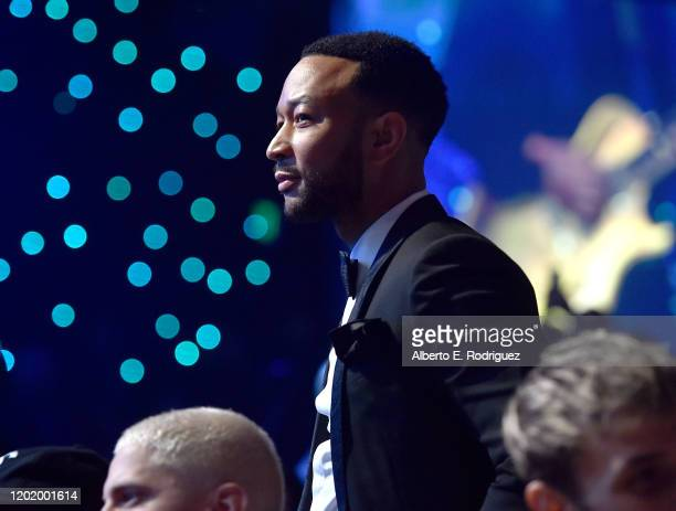 """John Legend attends the Pre-GRAMMY Gala and GRAMMY Salute to Industry Icons Honoring Sean """"Diddy"""" Combs on January 25, 2020 in Beverly Hills,..."""