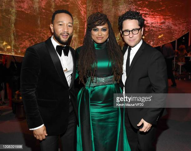 John Legend Ava DuVernay and JJ Abrams attend the 2020 Vanity Fair Oscar Party hosted by Radhika Jones at Wallis Annenberg Center for the Performing...
