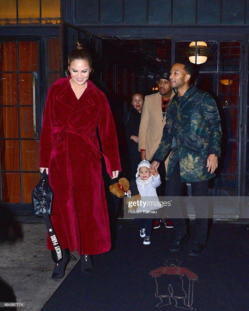 Celebrity Sightings in New York City - December 16, 2017