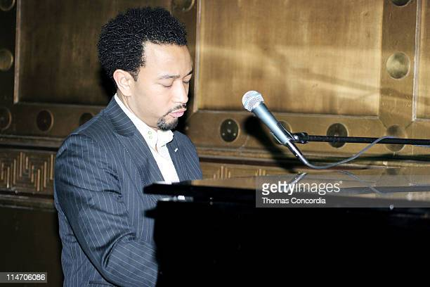 John Legend during Friends of Hillary Clinton Press Conference May 21 2005 at Capitale in New York City New York United States