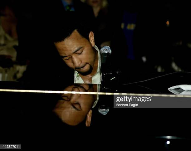 John Legend during Hillary Clinton Fund Raiser with a Performance by John Legend at Capitale in New York New York United States