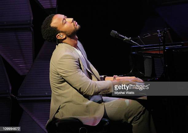"""John Legend during Jazz at Lincoln Center's 5th Annual Spring Gala """"Setting New Standards"""" at Apollo Theater in New York City New York United States"""