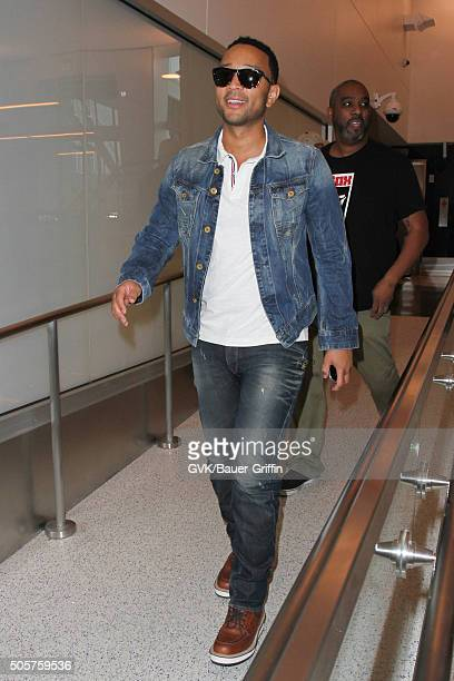 John Legend is seen at LAX on January 19 2016 in Los Angeles California