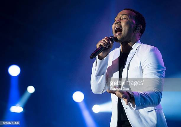 John Legend performs at 2015 Rock in Rio on September 20 2015 in Rio de Janeiro Brazil