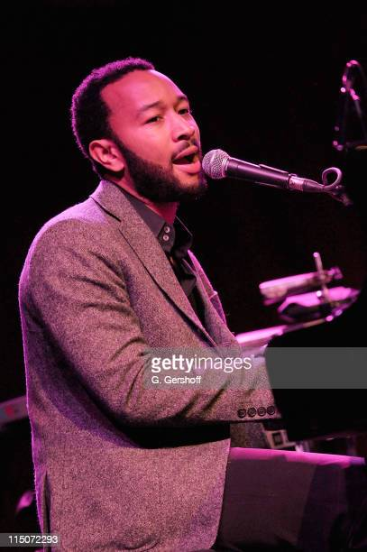 John Legend performs at Cherry Lane Music Publishing's 50th Anniversary celebration at Brooklyn Bowl on May 19 2010 in the Brooklyn borough of New...