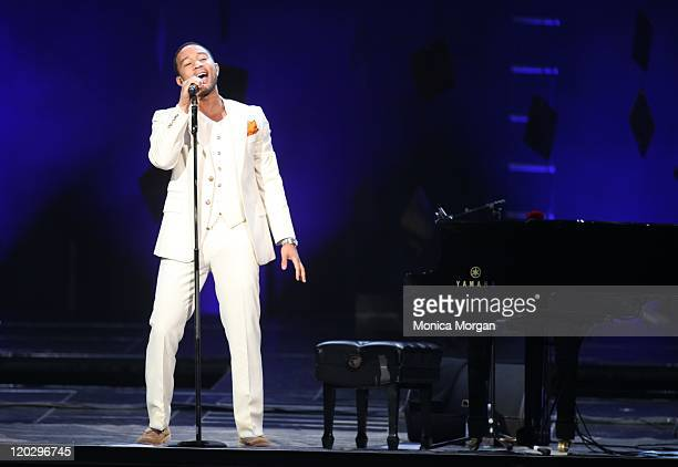 John Legend performs at The Palace of Auburn Hills on August 3, 2011 in Auburn Hills, Michigan.