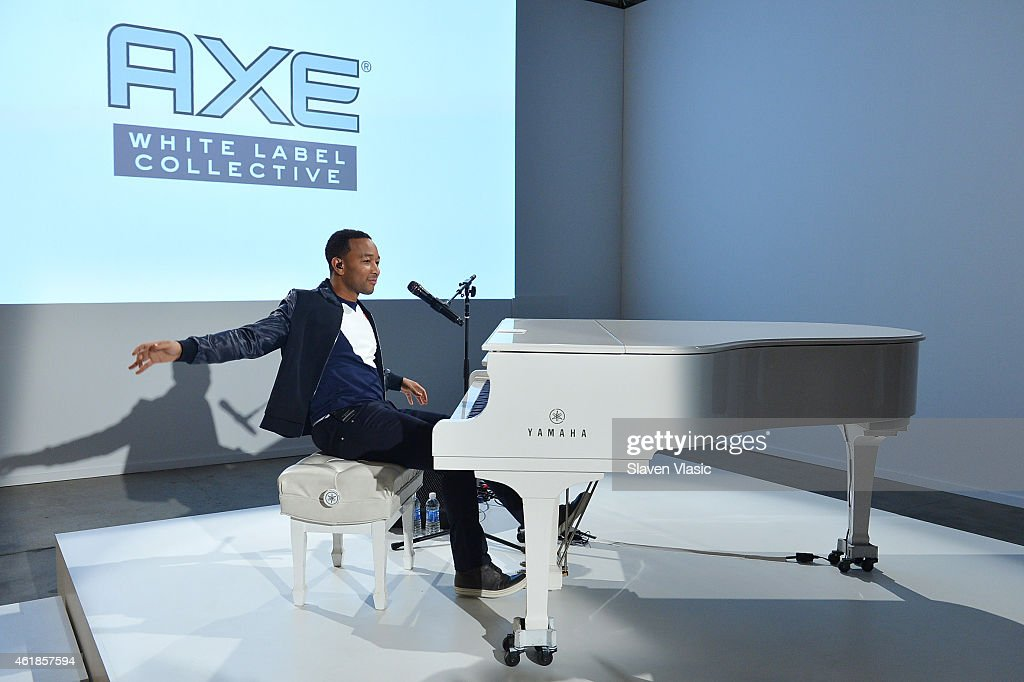 John Legend performs during the AXE White Label Collective launch at The Garage in NYC. Starting January 20, AXE and Legend invite emerging musicians to join the White Label Collective mentorship program.