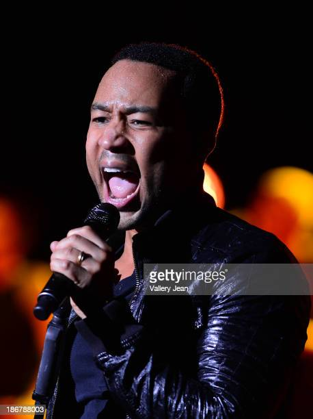 John Legend performs during the 'Made To Love Tour' at Fillmore Miami Beach on November 3 2013 in Miami Beach Florida