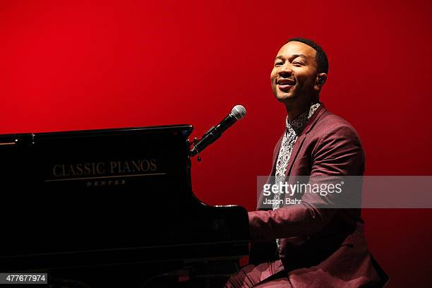 John Legend performs during the opening night of SeriesFest at Red Rocks Amphitheatre on June 18 2015 in Morrison Colorado