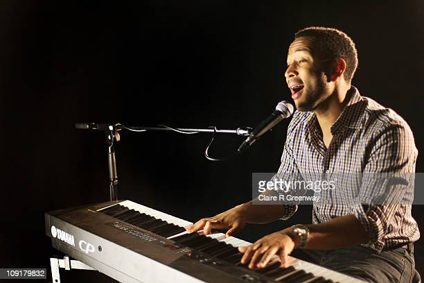 John Legend performs for a Biz Session in Wapping on October 11 2010 in London England