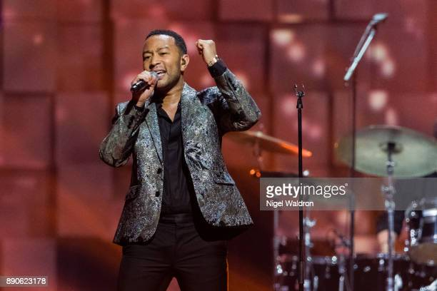 John Legend performs live on stage during the Nobel Peace Prize Concert 2017 at the Telenor Arena The Nobel Peace Prize Concert is hosted by David...