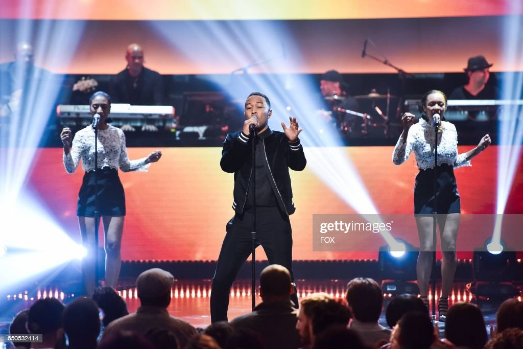 John Legend performs onstage at the Apollo Theater for SHOWTIME AT THE APOLLO airing Monday, Dec. 5 (8:00-10:00 PM ET/PT) on FOX.