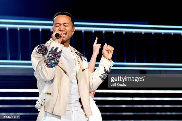 John Legend performs onstage during the 2018 Billboard Music Awards at MGM Grand Garden Arena on May 20 2018 in Las Vegas Nevada
