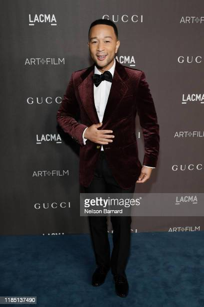 John Legend wearing Gucci attends the 2019 LACMA Art Film Gala Presented By Gucci at LACMA on November 02 2019 in Los Angeles California