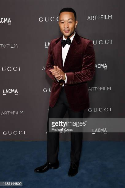 John Legend, wearing Gucci, attends the 2019 LACMA Art + Film Gala Presented By Gucci at LACMA on November 02, 2019 in Los Angeles, California.