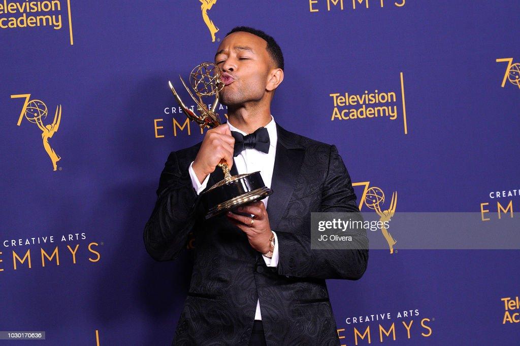 2018 Creative Arts Emmy Awards - Day 2 - Press Room : News Photo
