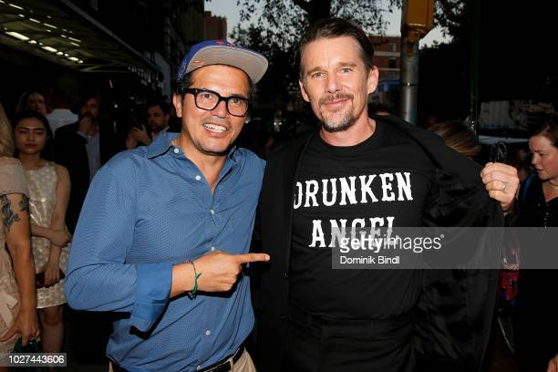 John Leguizamo and Ethan Hawke arrive for the New York screening of 'Blaze' at IFC Center on September 5 2018 in New York City