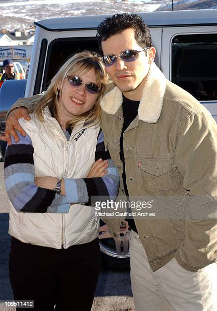John Leguizamo and his wife Justine arrive for the premiere of his film Empire at the Sundance Film Festival January 16 2002 in Park City Utah