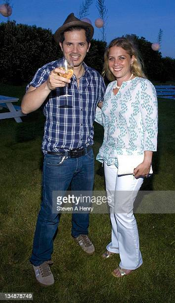 John Leguizamo and Justine Leguizamo attend the Cinema Society Dior Beauty screening of Grease SingALong on July 2 2010 in Sagaponack New York