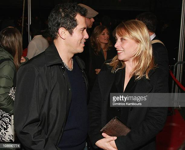 John Leguizamo and Justine Maurer arrive at the There Will Be Blood Premiere at the Ziegfeld Theater on December 10 2007 in New York City