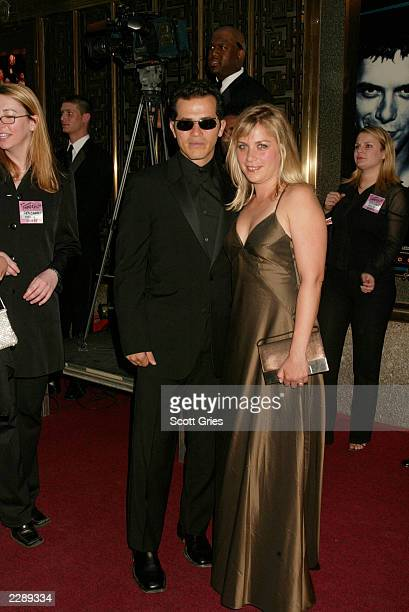 John Leguizamo and Justine Maurer arrive for the 56th Annual Tony Awards at Radio City Music Hall New York City June 2 2002 Photo by Scott...
