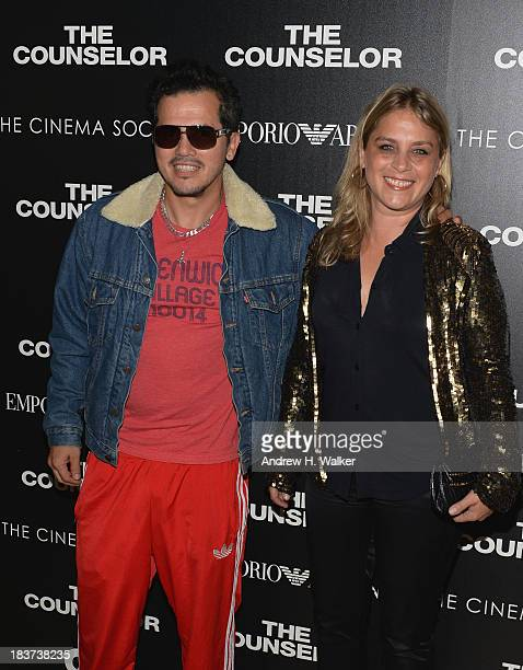 John Leguizamo and Justine Maurer attend Emporio Armani With GQ And The Cinema Society Host A Screening Of The Counselor at Crosby Street Hotel on...