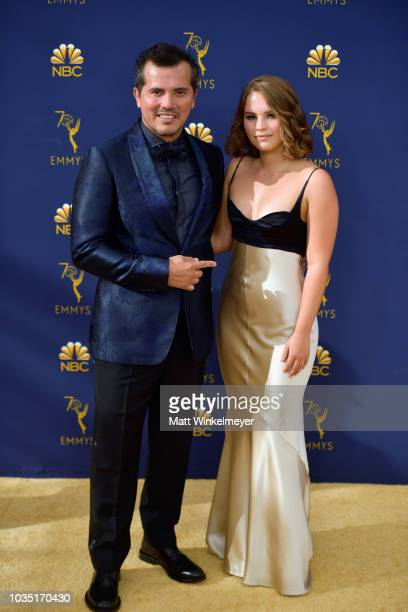 John Leguizamo and Justine Maurer attend the 70th Emmy Awards at Microsoft Theater on September 17 2018 in Los Angeles California