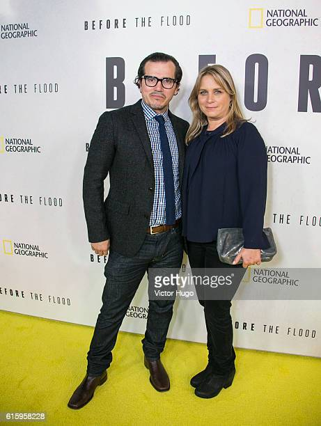 John Leguizamo and Justine Maurer attends National Geographic Channel hosts the New York City Premiere of Before the Flood at the United Nations on...