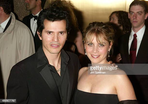 John Leguizamo and Justine Maurer during 2003 Tony Awards at Radio City Music Hall in New York City New York United States